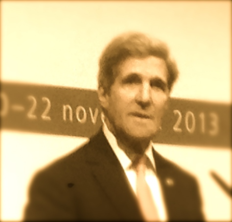 U.S. Secretary of State John Kerry speaks in Geneva following negotiations with Iran